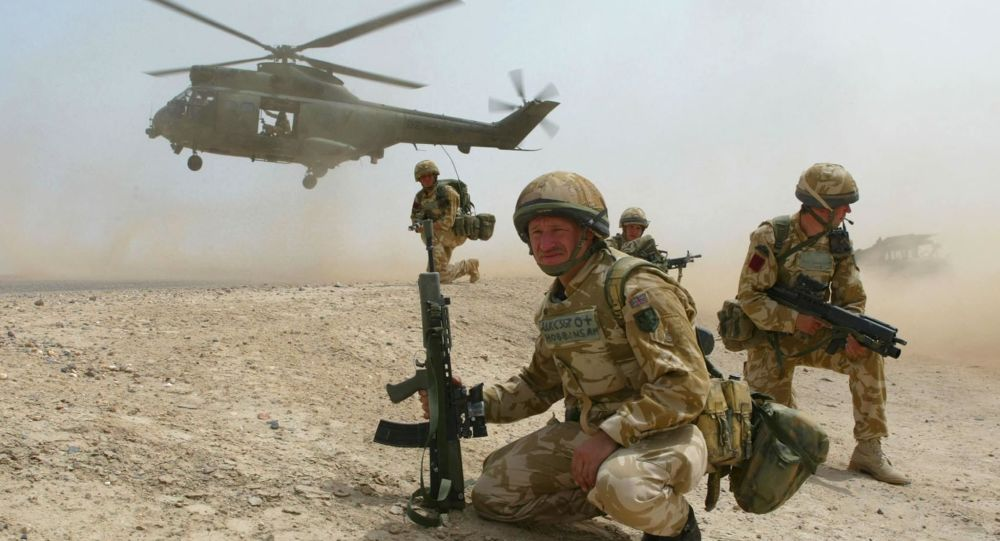 Amerykańscy desantnicy w Iraku