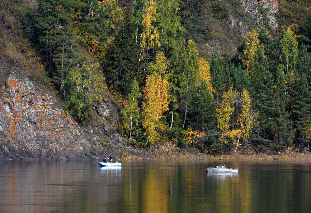 Połów ryb na rzece Jenisej w rejonie Diwnogorska