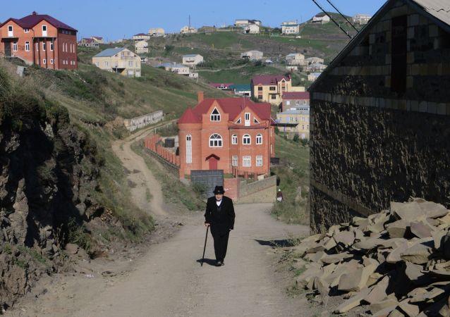 Jubiler Gadżyomar Izabakorów w osiedlu Kubaci w Republice Dagestan