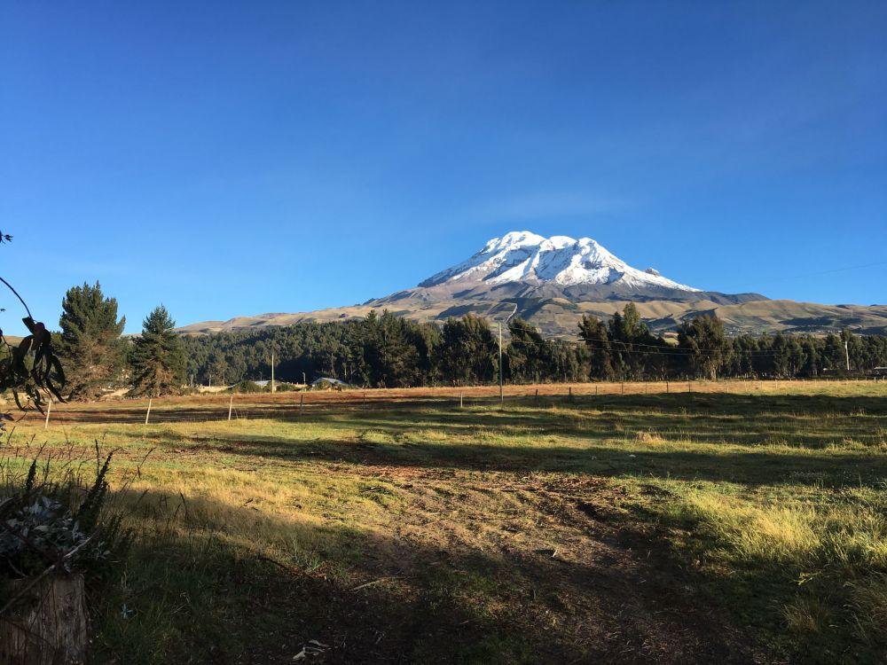 Szczyt Chimborazo w Ekwadorze