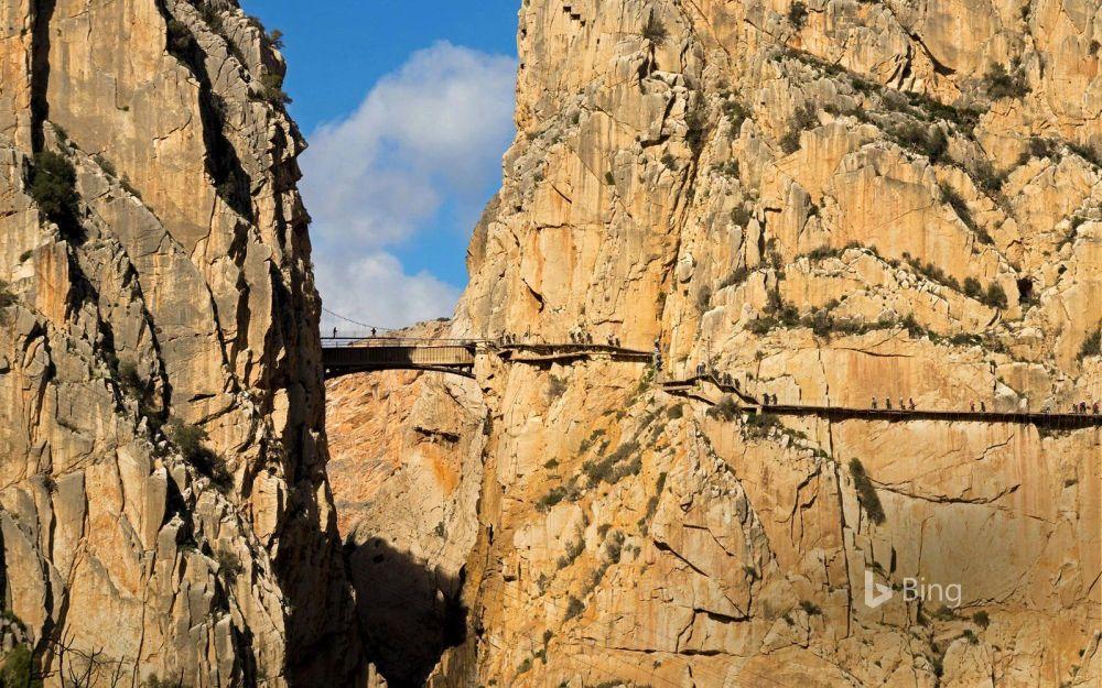 Caminito del Rey - Droga Króla niedaleko Malagi w Hiszpanii