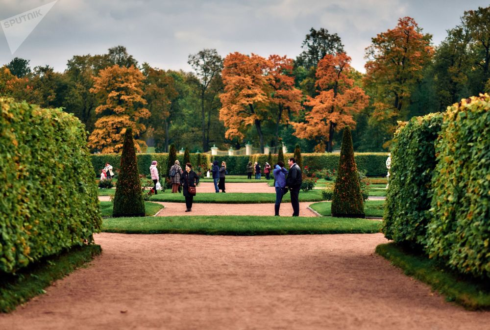 Jesień w parku pałacowym Oranienbaum