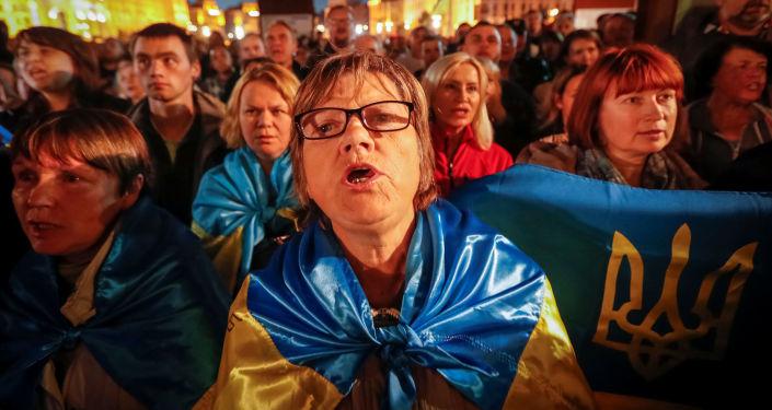 Protest przeciwko formule Steinmeiera, Kijów