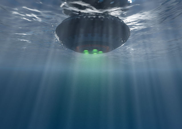 Ilustracja UFO pod wodą