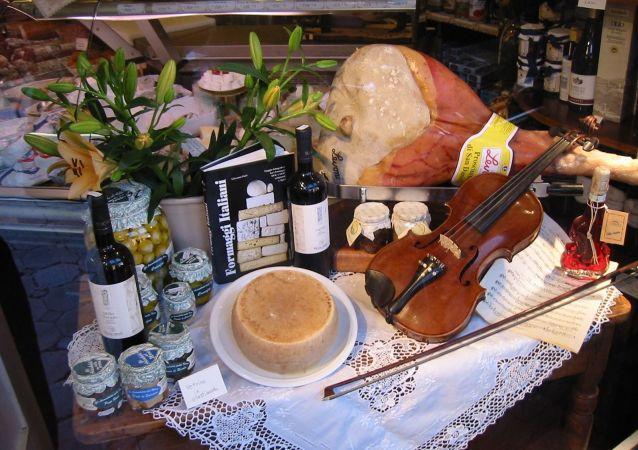 Witryna sklepowa we włoskiej Imoli