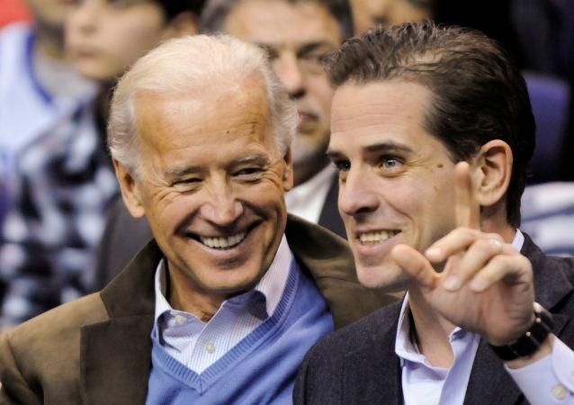 Joe Biden z synem Hunterem Bidenem