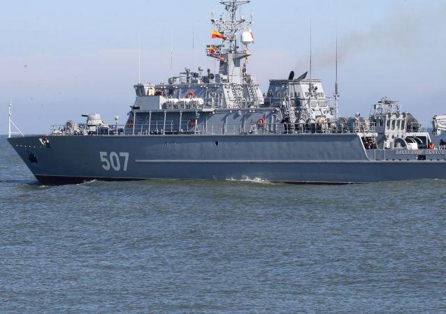 Trałowiec morski Aleksander Obuchow na Morzu Bałtyckim