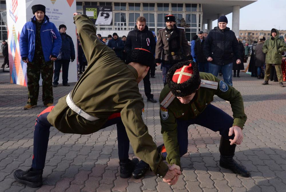 Obchody Dnia Jedności Narodowej w Krasnojarsku