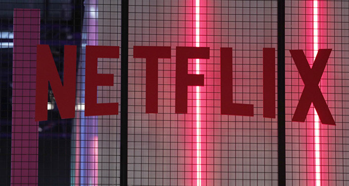 The logo of American entertainment company Netflix is pictured at the Paris games week in Paris, Saturday, Nov. 4, 2017.
