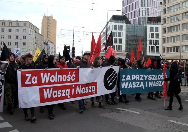 Marsz Antyfaszystowski w Warszawie, 11.11.2019 r
