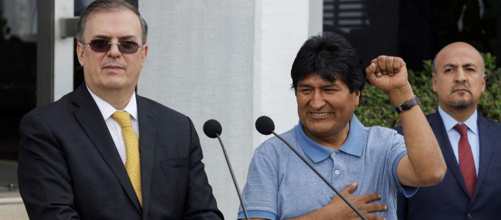 Były prezydent Boliwii Evo Morales w Meksyku