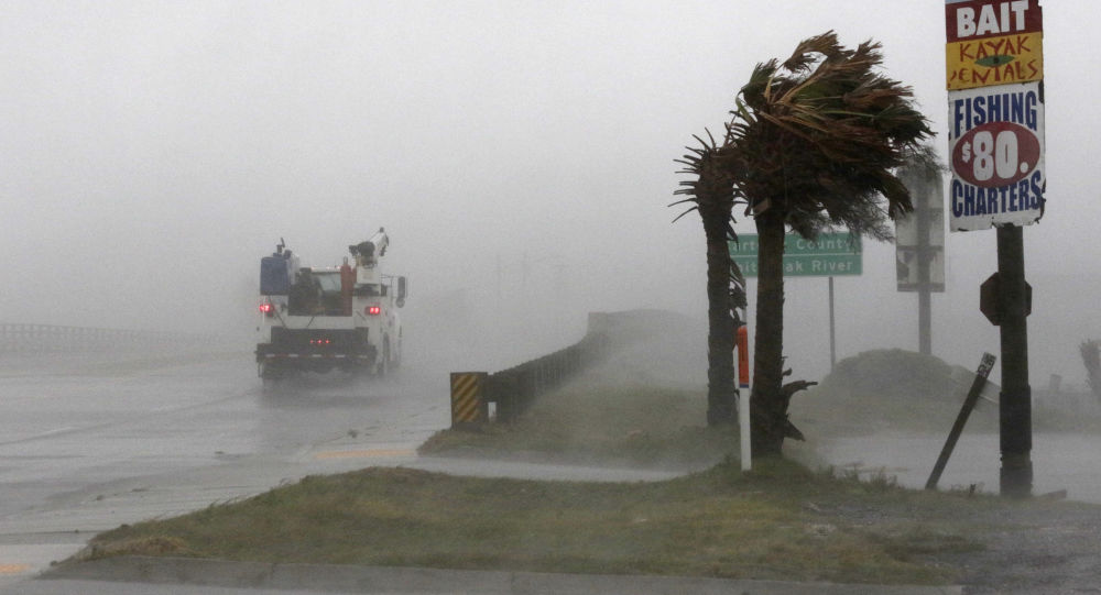 Huragan Florence szalejący w Północnej Karolinie
