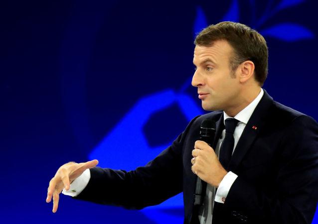 Prezydent Francji E.Macron