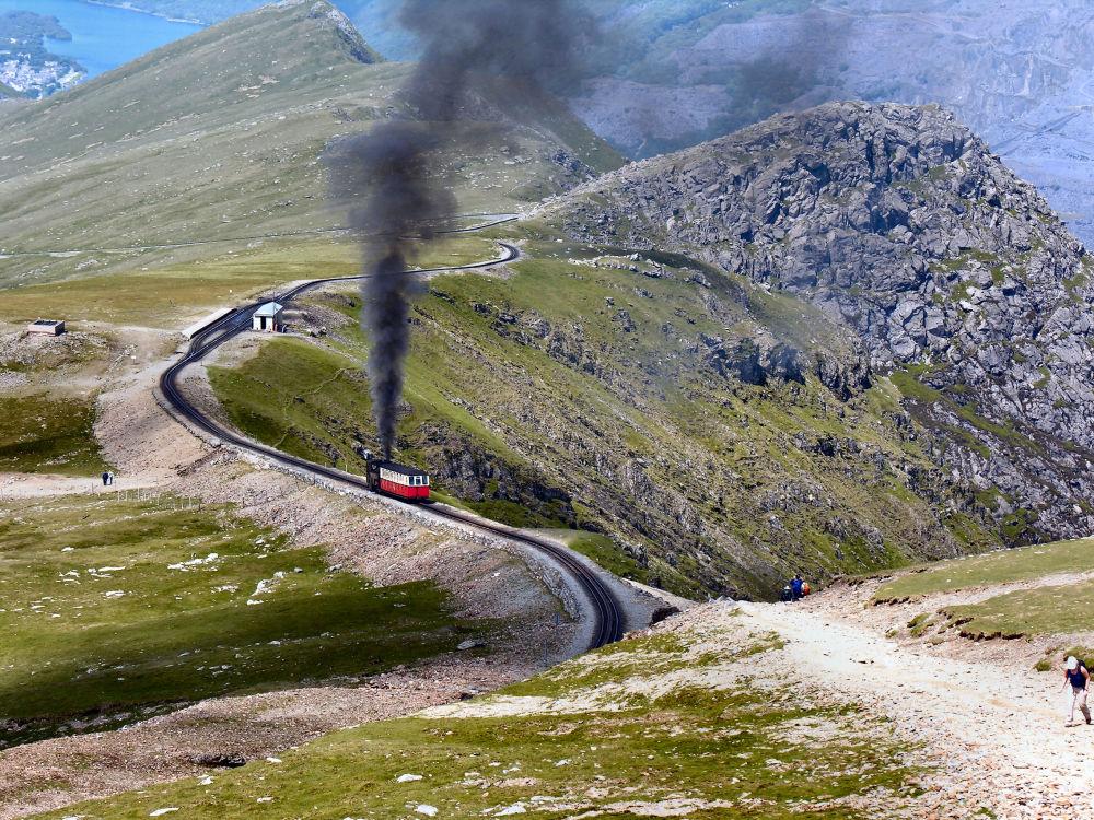 Pociąg w Walii Północnej