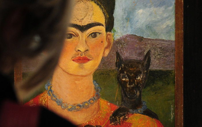 Autoportret z portretem Diego na piersi i Marii między brwiami