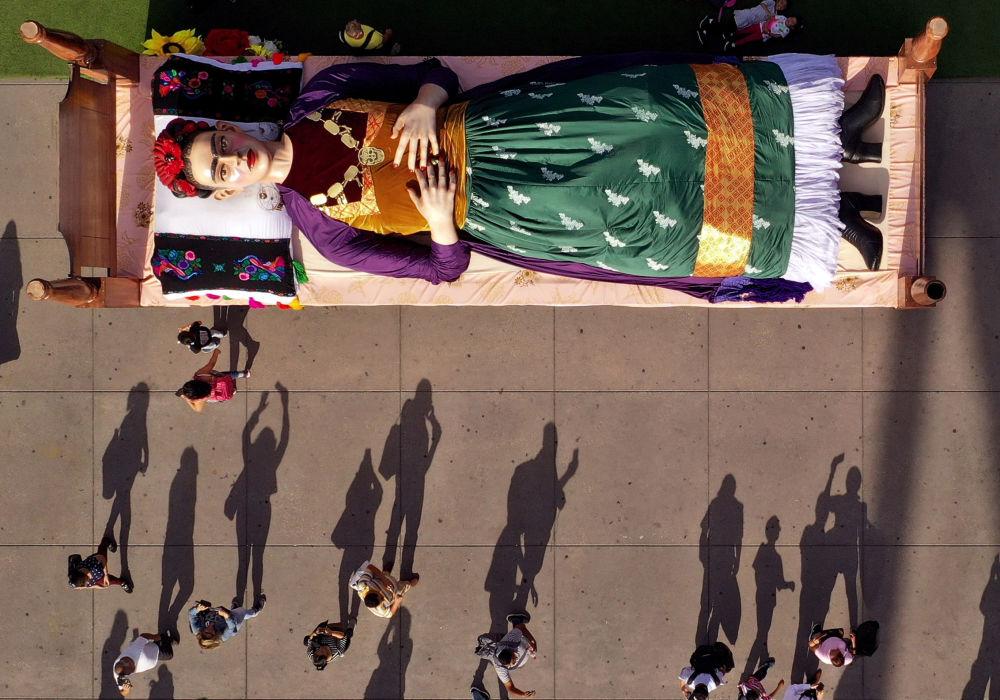 Część wystawy Kolory Fridy w Meksyku