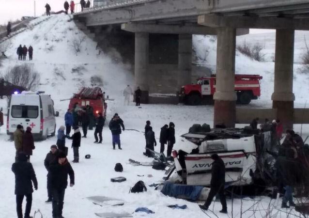 Wypadek autobusu na Zabajkalu