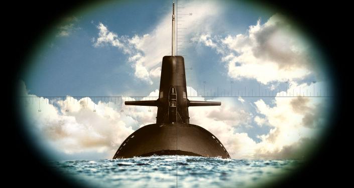 Okręt podwodny widziany przez lornetkę