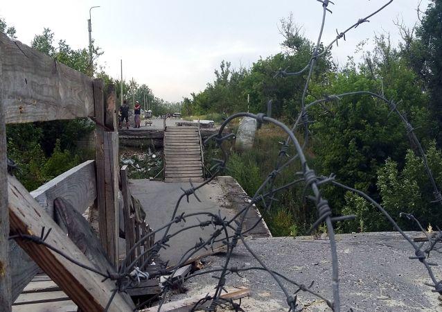 Linia podziału w Donbasie