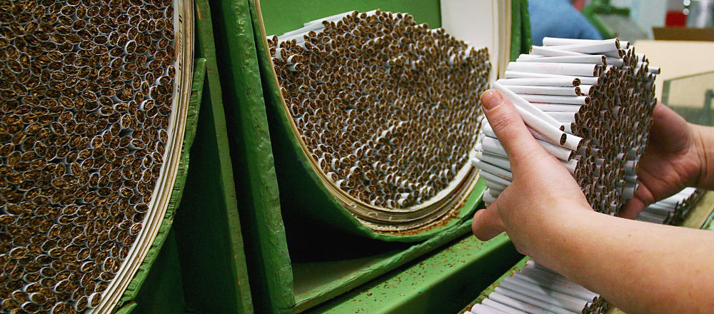 Produkcja papierosów