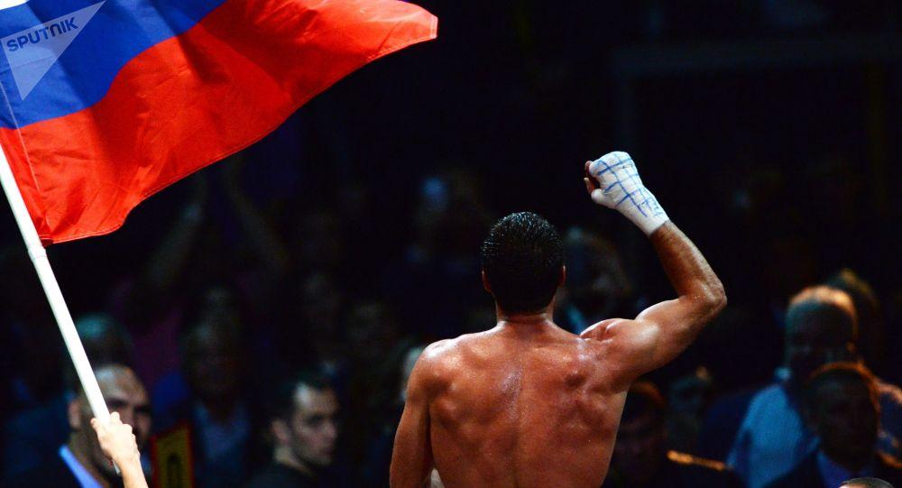 Rosyjski bokser po walce