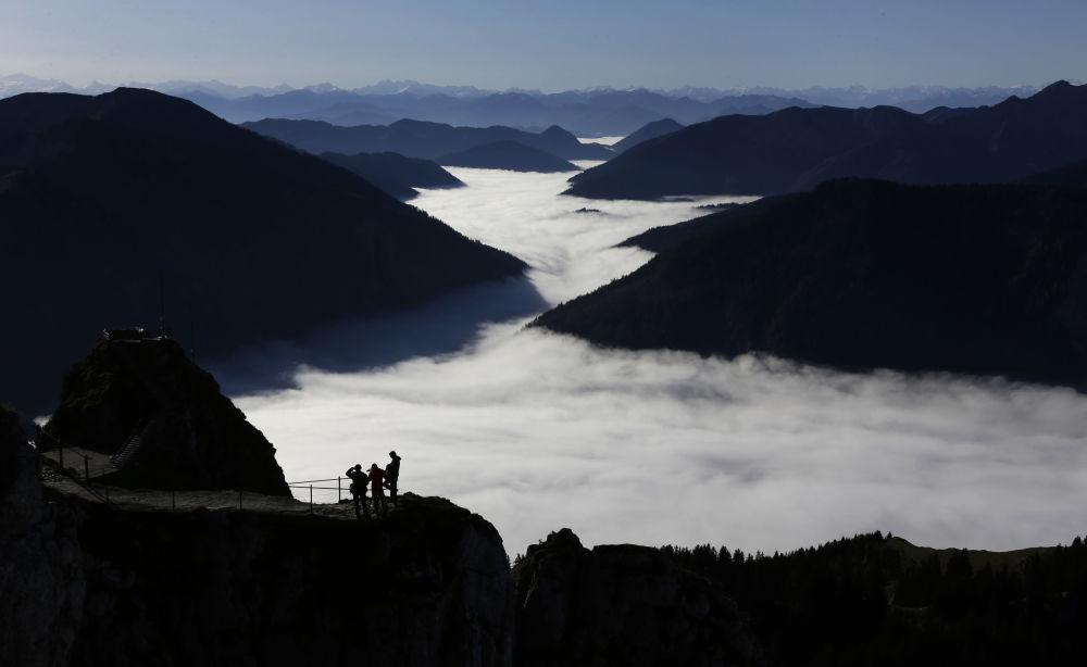 Widok na dolinę z Alp, Niemcy