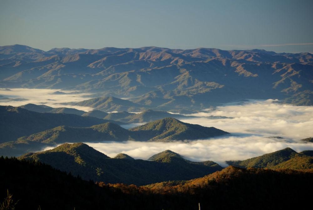 Widok Great Smoky Mountains w USA