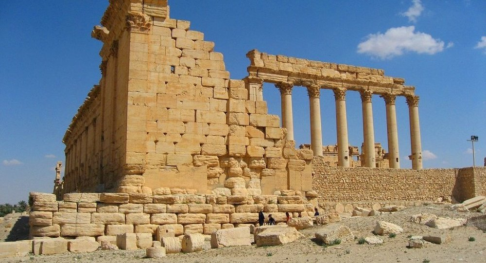 An ancient city of Palmyra in present Homs Governorate, Syria