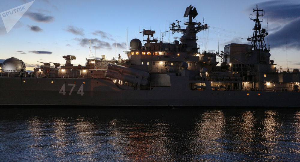 Niszczyciel Floty Północnej Admirał Uszakow w Seweromorsku