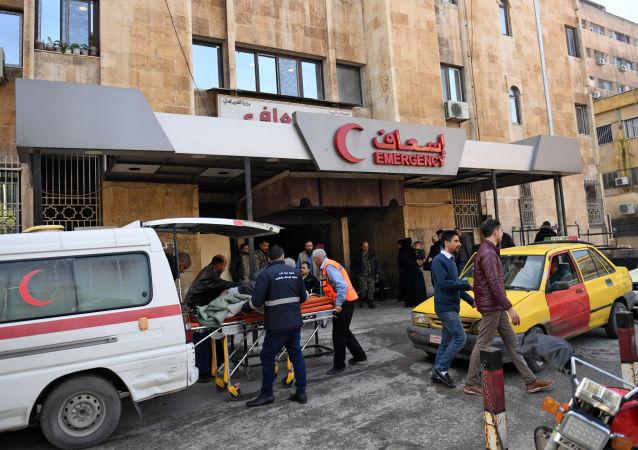 Ranni w rezultacie ataku terrorystów na dzielnice Aleppo