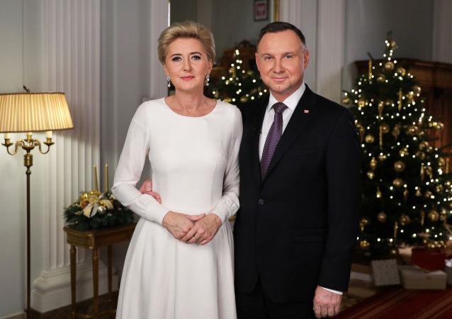Andrzej Duda z małżonką