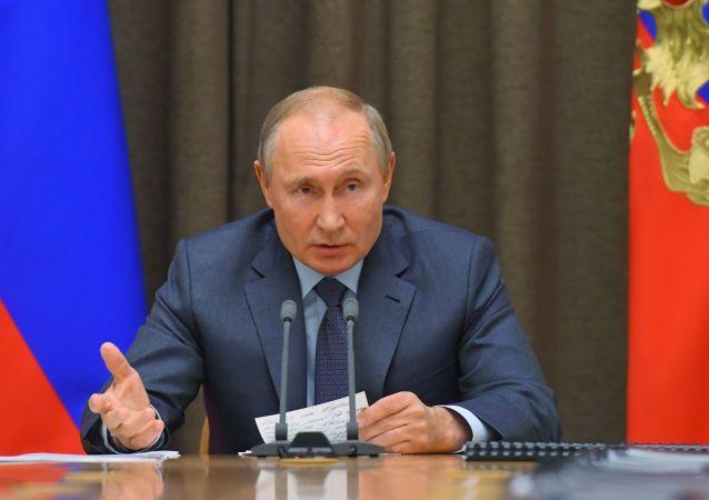 Prezydent Putin na naradzie z resortem obrony