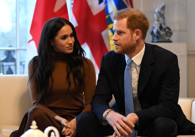 Książę Harry i Meghan Markle.