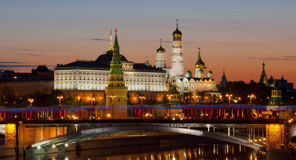 Widok na moskiewski Kreml