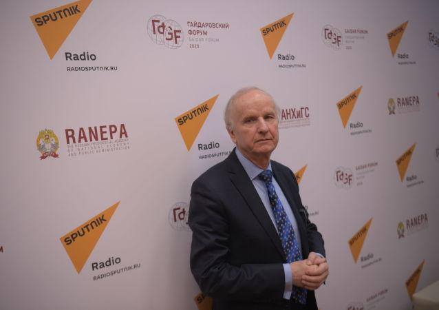 Były wicepremier i były minister finansów RP prof. Grzegorz Kołodko w Moskwie