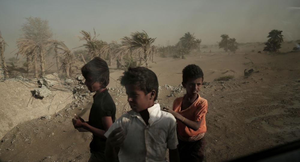Bezdomne dzieci w Jemenie
