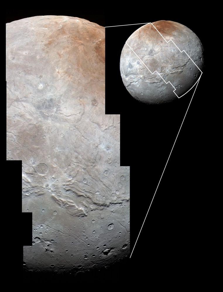 Największa satelita Plutona Charon w szczegółach