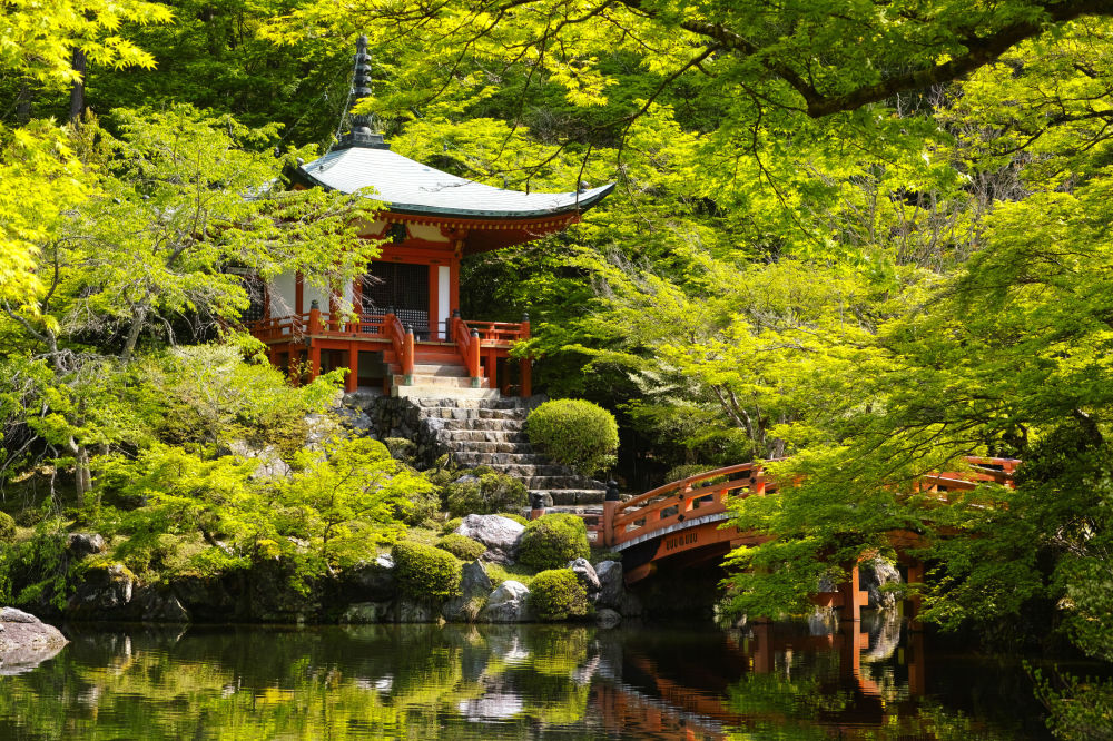 Buddyjska świątynia Daigo-ji w Kioto, Japonia