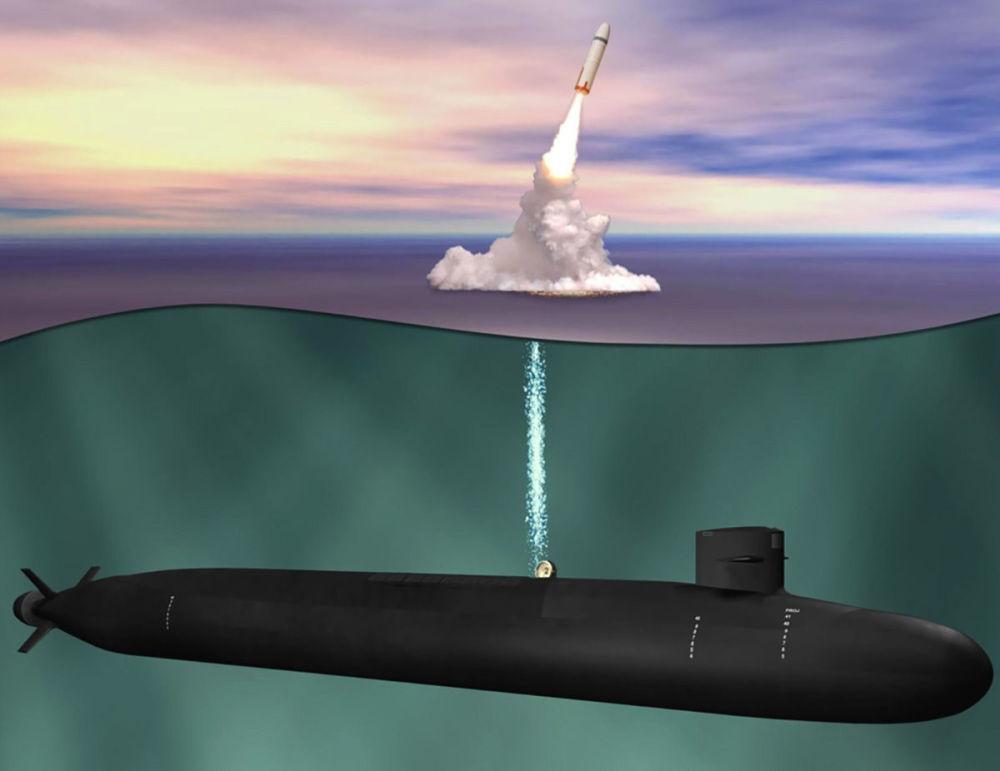 """Ilustracja łodzi podwodnej """"Ohio Replacement"""""""
