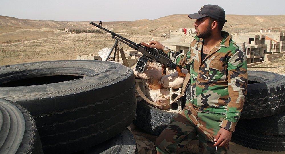 Żołnierz syryjskiej armii