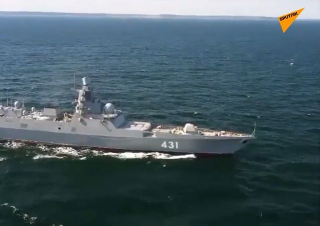 "Rosyjska fregata ""Admirał Fłota Kasatonow"