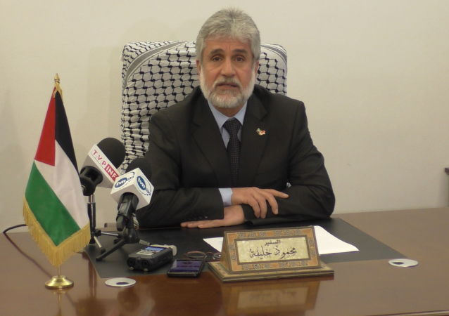 Ambasador Palestyny w Polsce Mahmoud Khalif.