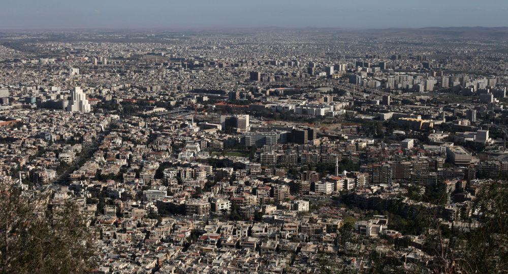 Widok na Damaszek, Syria