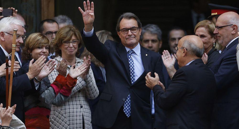 Przewodniczący rządu Katalonii Artur Mas zeznawał w Sądzie Najwyższym Katalonii