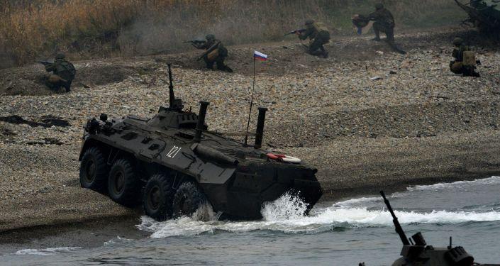Flota Pacyficzna przeprowadziła w Kraju Nadmorskim ćwiczenia z desantu