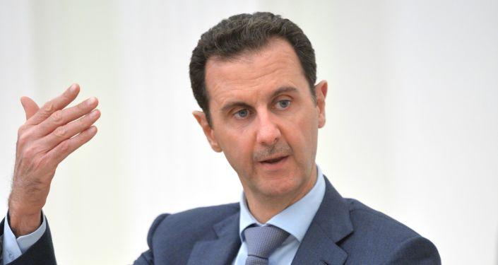 Prezydent Syrii Baszar al-Asad w Moskwie