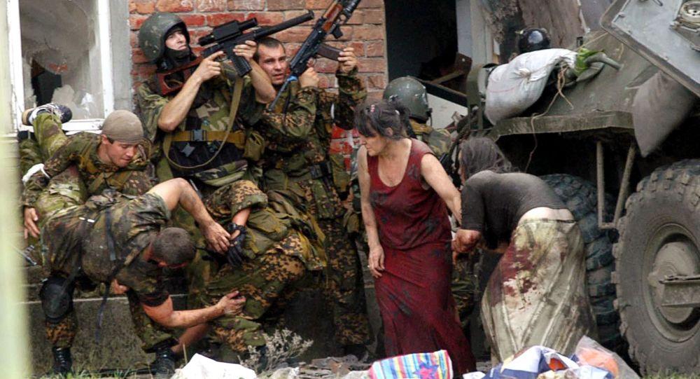 Operacja ratunkowa w szkole w Biesłanie w Osetii Północnej