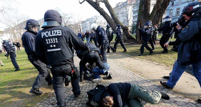 Protesty we Frankfurcie