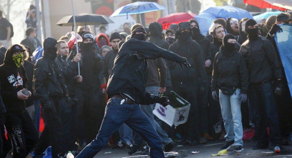 Protesty we Frankfurcie nad Menem