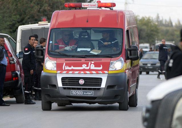 Karetka pogotowia w Tunisie